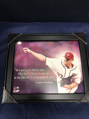 Stephen Strasburg Quote Photo 8x10 w Black Frame can hang or Stand Up for Sale in Fairfax, VA