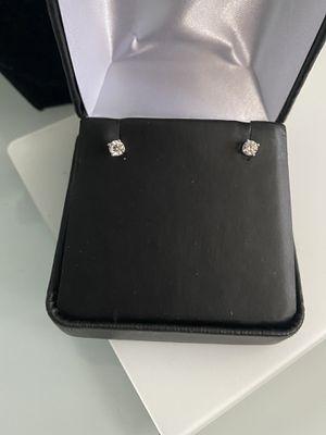 18k gold white gold diamonds earrings 40 cut each 0.20 for Sale in Weymouth, MA