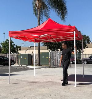 New in box $90 Red 10x10 Ft Outdoor Ez Pop Up Wedding Party Tent Patio Canopy Sunshade Shelter w/Bag for Sale in Pico Rivera, CA