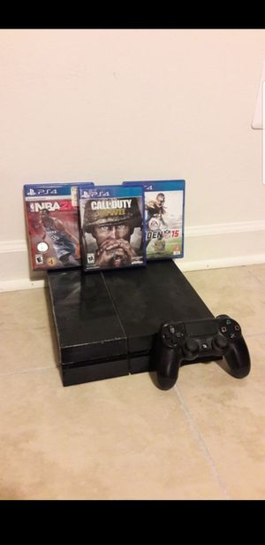 PS4 WITH GAMES WILL TRADE FOR A NINTENDO SWITCH for Sale in Manassas, VA