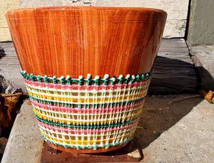 "Mid century modern italian art pottery flower pot 6"" x 6"" ish ... no damage ! for Sale in Saginaw, MI"