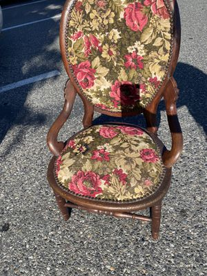 Floral wooden Antique chair for Sale in Benton City, WA