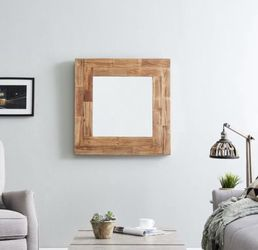 Medium Rectangle Natural Contemporary Mirror (31.5 in. H x 31.5 in. W) for Sale in Dallas,  TX