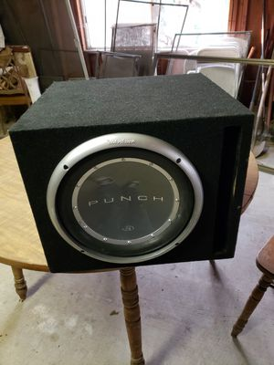 Bass speaker with box for Sale in Salinas, CA