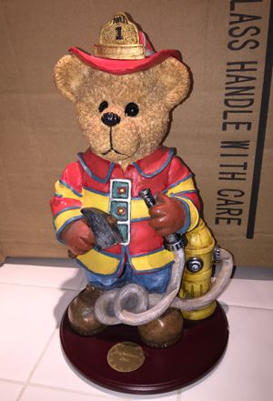 Firefighter bear decoration for Sale in South Miami, FL