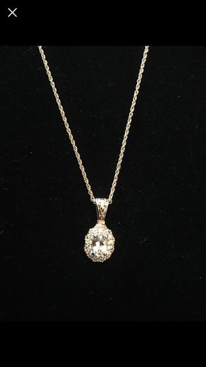 Morganite necklace - rose gold coated over sterling silver for Sale in West Richland, WA