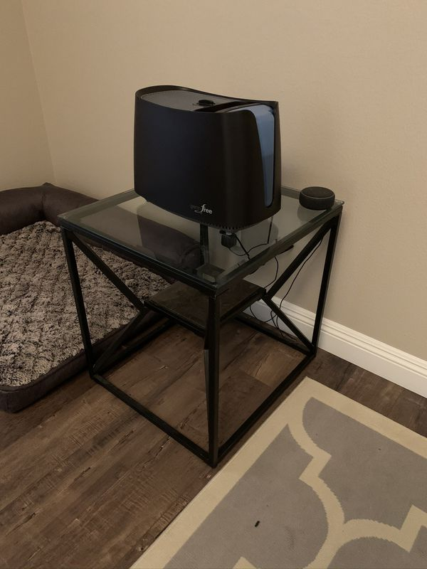 Glass Table Set (marble & metal) 3 tables total ( 2 X End Tables 1 X Coffee Table)