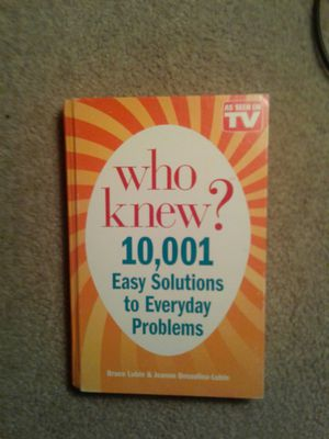 "As Seen On Tv ""Who Knew"" Hardcover Book for Sale in San Jose, CA"
