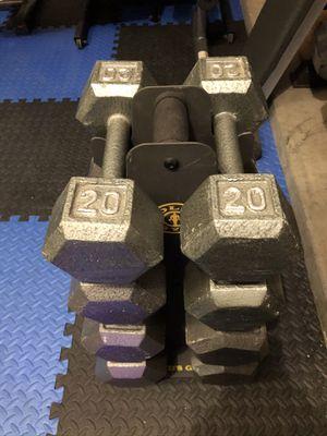 Iron Hex Dumbbells w/ Rack for Sale in Gilbert, AZ