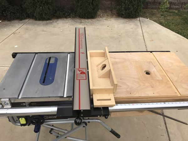 Kobalt table saw with Vega Pro 40 fence upgrade and built ...