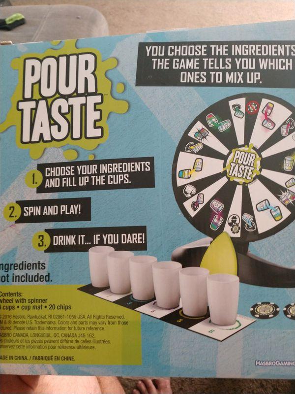 Hasbro Pour Taste board game