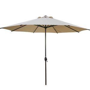 New 23lb super heavy duty 11ft Patio Umbrella Push Button Tilt and Crank for Garden, Lawn, Deck, Backyard & Pool, Beige for Sale in Ontario, CA