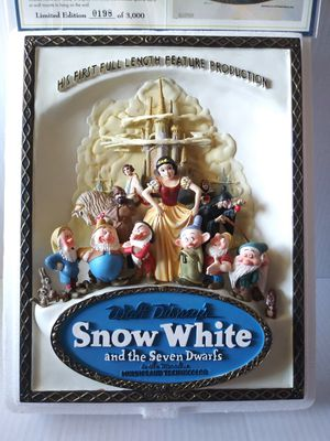 Vintage Disney Snow White & The Seven Dwarfs Movie Poster Plaque Code 3 LE of 3000 for Sale in Wilmington, CA