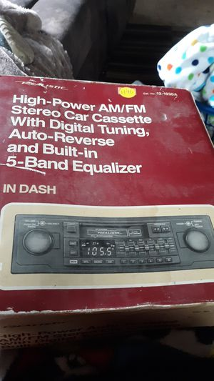 High power auto reverse AM/FM stero car cassette for Sale in Wyalusing, PA