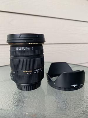 Sigma 17-50mm f2.8 lens for Sale in San Antonio, TX