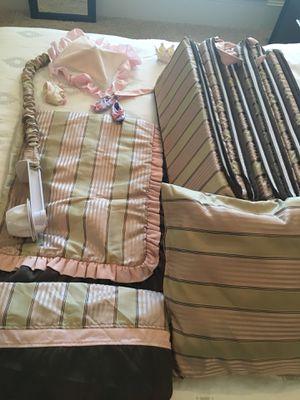 Designer Baby Girl Crib Set for Sale in Houston, TX