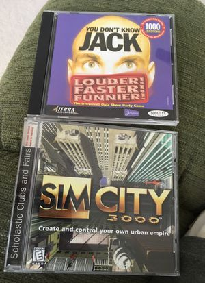 Sim City 3000 & You Don't Know Jack computer games for Sale in Alpharetta, GA