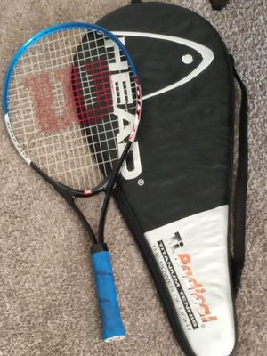 Wilson oversized volt 25 tennis racket,with bag for Sale in Arlington, TX