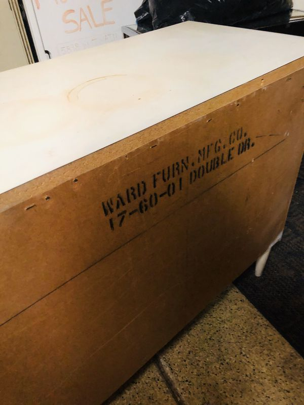 Vintage Ward 6 draw dresser white