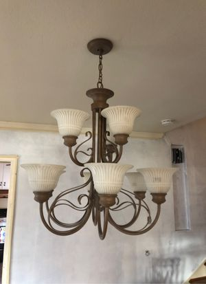 Beautiful ceiling light chandelier light fixture for Sale in Pittsburg, CA