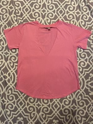 Size Medium Hot Pink F21 Forever 21 T Shirt Cutout Summer Kawaii Basic for Sale in Lake Forest, CA