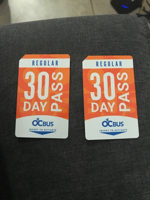 30 Day Bus Pass for Sale in Fullerton, CA