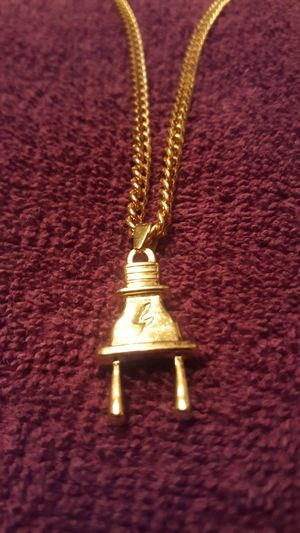 The Plug...24kt GOLD PLATED Plug on a 24 inch chain..$20.00 for Sale in Phoenix, AZ