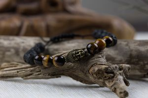 Buddha bracelet - Lava and Tiger Eye for Sale in Seattle, WA