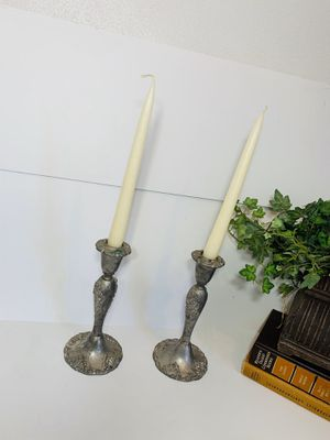 Vintage Silver Candle Sticks stamped By GODINGER for Sale in Downey, CA