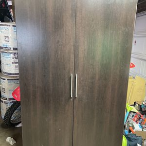 "40""x21""x71"" Walnut Grain Armoire/Storage Cabinet for Sale in Hoffman Estates, IL"