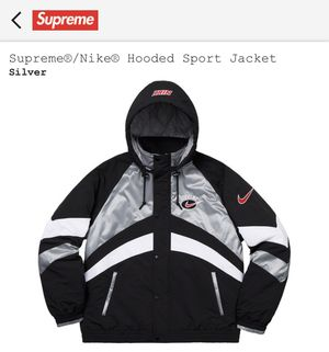 NIKE SUPREME SILVER JACKET SIZE L for Sale in Old Westbury, NY