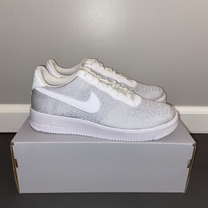 Air Force 1 Low Flyknit 2.0 Platinum/White Mens Sizes 9-11 for Sale in Dunlap, IL