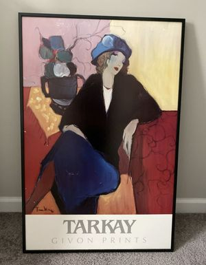 "FRAMED TARKAY GIVON PRINTS ""WOMAN SEATED"" PICTURE POSTER WALL HANGING HOME DECORATION ACCENT for Sale in Chapel Hill, NC"