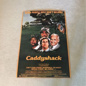 Caddyshack hard-backed Poster for Sale in Southborough, MA