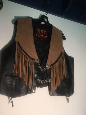 Women's Motorcycle Vest with Chains for Sale in West Palm Beach, FL