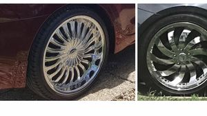 20inch chrome rims on tires1500 for each set of 4 for Sale in Garfield Heights, OH