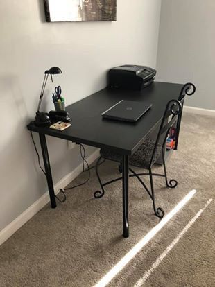 Desk with Chair (drawers not included)