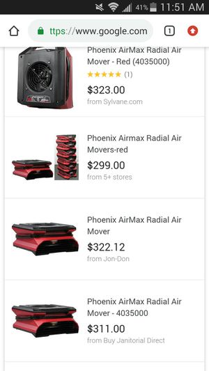 Phoenix AirMax Radial Air Mover for Sale in Tampa, FL