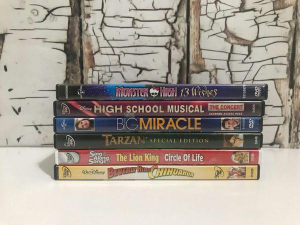 WaltDisney Movies Six Dvds