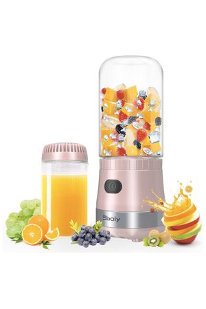 NEW!! Portable Mini Blender USB Rechargeable with 2 Tritan Bottles BPA-Free, Personal Blender for Smoothies and Shakes, Small Blender Juicer for Offi for Sale in Los Angeles, CA