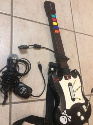 Play station guitar and mic Ps2 for Sale in Lakewood, CO