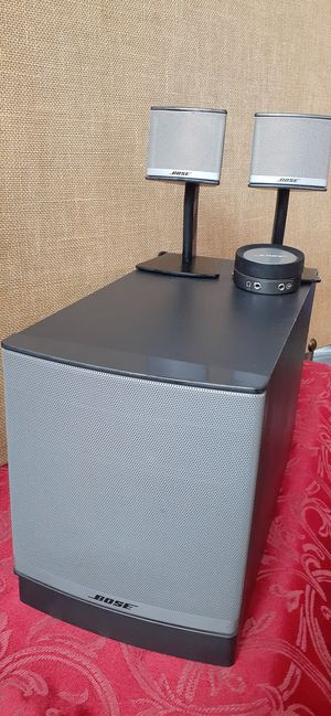 $175 Bose Companion 3 Series 2 - Subwoofer and 2 Speakers with Cables for Sale in Hemet, CA