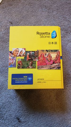Rosetta Stone Version 4 Japanese Levels 1-3 for Sale in Gig Harbor, WA