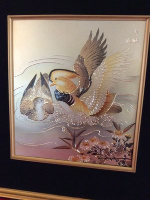 Beautiful Asian Japanese Framed Art Signed for Sale in Bauxite, AR