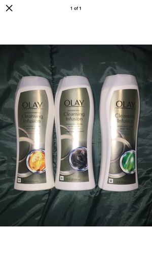 Lot of 3 Olay Hydrating Glow Detoxifying Microscrubbing Deep Sea Kelp Body Wash for Sale in Pottsville, PA