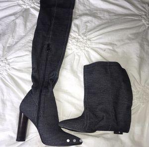 Denim Thigh-High boots for Sale in Covington, LA