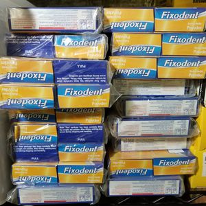BULK LOT 114 pcs Fixodent Extra Hold Denture Adhesive Powder, 1.6 oz (45g) for Sale in Gaithersburg, MD