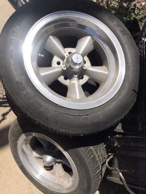 Chevy Pontiac Buick Oldsmobile rims 5x4-3/4 set of 4 all 14 inch for Sale in Hemet, CA