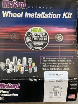 McGard M14x1.5 ball/radius seat wheel bolts with locks for Sale in Renton,  WA