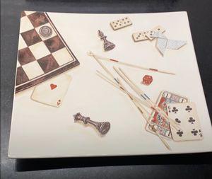 Jeux Gien card platter made in France for Sale in Dublin, OH